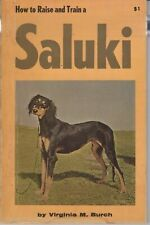 How to Raise and Train a Saluki by Virginia M. Burch - 1965 - Dog Training