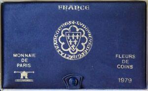 F5000.30 - COFFRET FLEURS DE COINS - FRANCS - 1979 - 1 centime à 50 francs