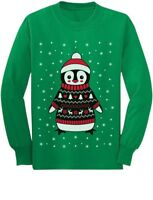 Cute Christmas Penguin Ugly Sweater Toddler/Kids Long sleeve T-Shirt Boys