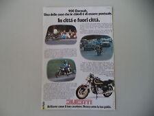 advertising Pubblicità 1979 MOTO DUCATI 900 SD DARMAH