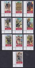 Gibraltar 2008 Mint MNH Full Set 10 values Marginal Military Army Uniforms Guns