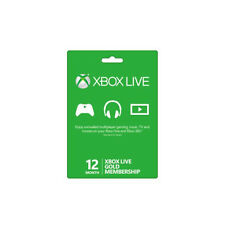 Microsoft Xbox One 12 Month Live Gold Membership Digital Code - Instant delivery