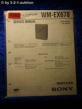 Sony Service Manual WM EX678 Cassette Player  (#4382)