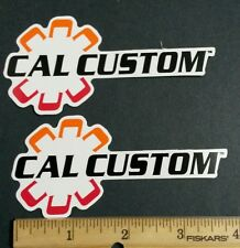 "Lot of 2 new CAL CUSTOM Racing Decals/Stickers GASSER approx  size 4"" X  2"""