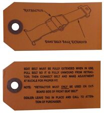 1960 1961 1962 1963 1964 1965 1966 Buick Seat Belt Instructions Tag