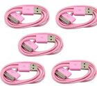 5x Pink USB Sync Data Charging Charger Cable for Apple iPhone 4 4S 4G 4th Gen