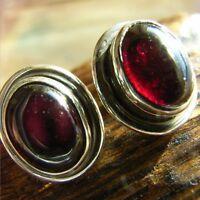 Granat Ohrstecker Sterling Silber 925  Ohrringe Rot Ohrschmuck Damen Kira