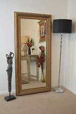 Bevel Antique Style Large Gold Wall Mounted Mirror Rectangle Resin 5ft10x2ft10