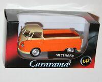 Cararama - VW Volkswagen T1 PICK UP (Orange) Model Scale 1:43