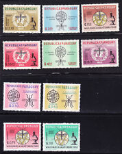PARAGUAY  SCOTT # 674-683   MNH UNITED NATIONS/ANTI-MALARIA TOPICAL