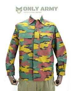 Belgian Army Field Jacket / Shirt Lightweight Combat Top BDU Jigsaw Camo Ripstop