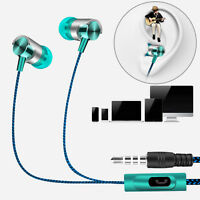 New Metal In Ear Headphones Earphones With Mic Remote For Gym Jogging Sports MP3