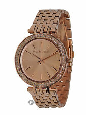BRAND NEW WOMENS MICHAEL KORS (MK3192) DARCI ROSE GOLD TONE MESH WATCH