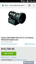 Special GRAPHIC Lens fujinon A8x12BMD-D28 12-96mm B4 parfocal macro d16 bmpcc HD
