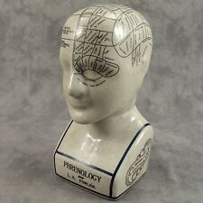 """PORCELAIN PHRENOLOGY 9"""" BUST HEAD by L.N. FOWLER  ~SCIENCE OF PSYCHOLOGY ~"""