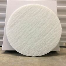 """16"""" White Non Woven Floor Pad  1/2"""" Thick ( 5 PerBox)"""