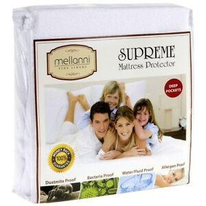 Mellanni Deep Fitted Mattress Protector - Bed Bug & Waterproof, Hypoallergenic
