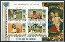 Burundi - Internationales Jahr des Kindes Block 109 postfrisch 1969 Mi. 1501/04