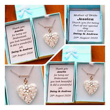 Bridesmaid Gift -PERSONALISED Thank you gift for mother of bride flower girl(6)