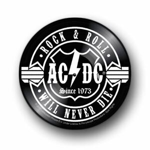 AC&DC Rock & Roll will never die vinyl record wall sign plaque
