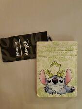 Disney Lilo & Stitch w/ Frog Loungefly Cardholder Wallet Id Holder New Fast Ship