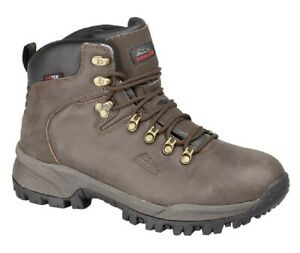 Johnscliffe CANYON M027 Unisex Leather Jontex Hiking Boots Brown Crazy Horse Le