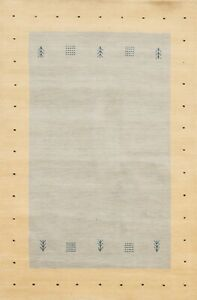 4'x6' Geometric Modern Gabbeh Oriental Area Rug Tribal Hand-knotted Foyer Carpet