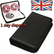 More details for uk top✔ media 80 discs cd dvd game wallet storage ring binder carry case folder