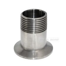 "1"" DN25 Sanitary Male Threaded Pipe Fitting to TRI CLAMP (OD 50.5mm) Ferrule"