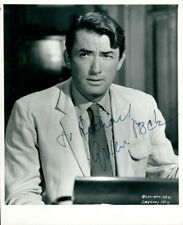 Gregory Peck (Vintage, Inscribed) signed photo COA