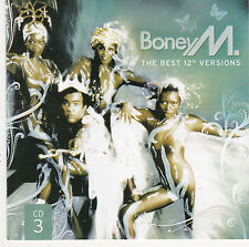 "CD BONEY M THE BEST 12"" VERSIONS  8T DE 2008 EN VERSIONS MAXI !!!!!"