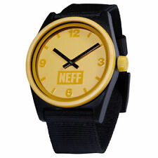 Neff Unisex Daily Watch Amber/Black/Woven Accessories Timepiece Water Resistant