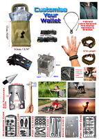 EDC Tactical Mole Belt Pouch With Survival Multitools Hunting Fishing Hiking
