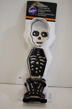 WILTON 3 Piece Cookie Cutter Set Halloween Skeleton New