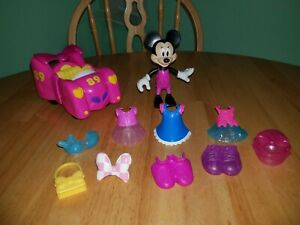 Fisher Price Minnie Mouse Race n' Style with Pink Car and Accessories 2016