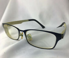 Robert La Roche Gallan EyeGlasses Gl M-1554 51 16 Blue Cream Metal Rx Frames