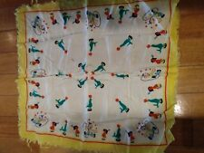 New listing 1940S -50S Novelty Print Scarves Childrens Print Fashion Scarves
