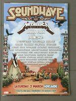 SOUNDWAVE 2013 : RARE ORIGINAL AUSTRALIAN A2 TOUR POSTER
