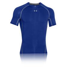 Maglie e top da uomo traspirante blu a manica corta per palestra, fitness, corsa e yoga