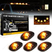 5x Smoke Lens Amber LED Cab Roof Marker Lights For 2003-2018 Dodge Ram 2500 3500
