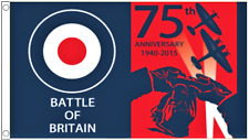 Official Battle Of Britain Spitfire WWII RAF 75th Anniversary 5'x3' Flag