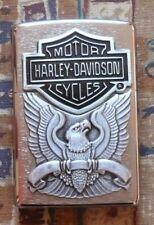 AUTOMOTIVE HARLEY DAVIDSON MADE IN THE U.S.A ZIPPO LIGHTER FREE P&P FREE FLINTS