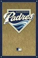 SAN DIEGO PADRES ~ CORNERS LOGO 22x34 POSTER MLB Major League Baseball