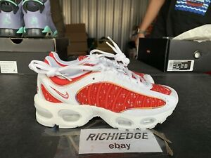 DS Nike Air Max Tailwind IV 4 Supreme White SS19 Size 4 100% Authentic