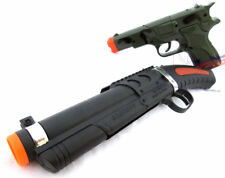 2x Toy Guns Military Detective Camo 9MM Pistol Cap Gun & Toy Sawed-off Shotgun