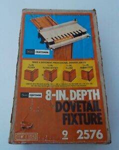 """Vintage Sears Craftsman 8"""" Depth Dovetail Fixture 9-2576 - with box,instructions"""