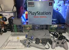 Sony PlayStation Console W/ Box Controller & Games (Scph-9001) Matching Serial #