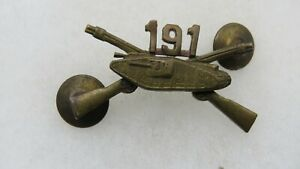 SCARCE EARLY 191st INFANTRY/TANK OFFICERS COLLAR PIN-INSIGNIA