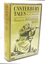CANTERBURY TALES by GEOFFREY CHAUCER Illustrated by ROCKWELL KENT HCDJ