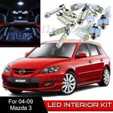 10pcs Interior LED Light Bulbs Package Kit for 2004-2009 Mazda 3 White